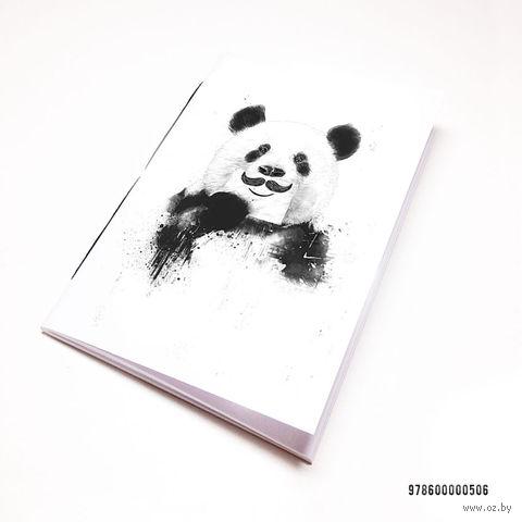 "Блокнот белый ""Панда с усами"" А7 (506)"
