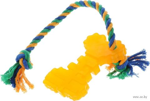 "Игрушка для собак ""Ключ с канатом"" (10,5х6,2х1,4 см) — фото, картинка"