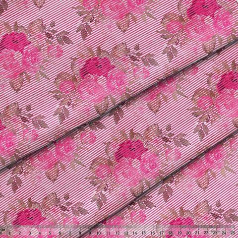 "Ткань ""Великолепный розарий"" (48х50 см; арт. AM656013) — фото, картинка"