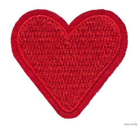 """Термоаппликация """"Красное сердечко"""" — фото, картинка"""