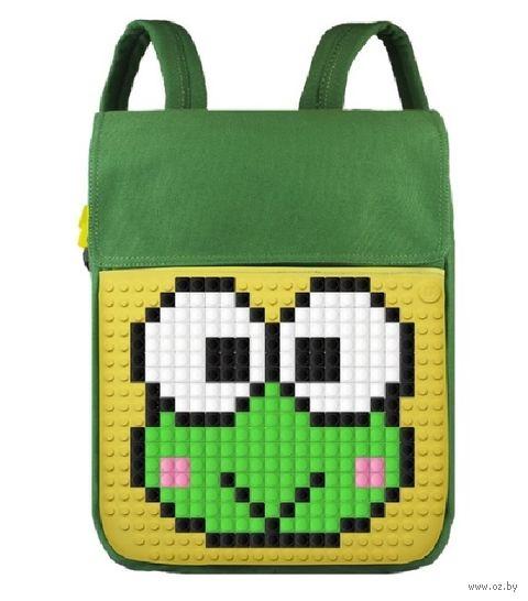 """Рюкзак """"Canvas Top Lid Pixel"""" (зелёно-жёлтый) — фото, картинка"""