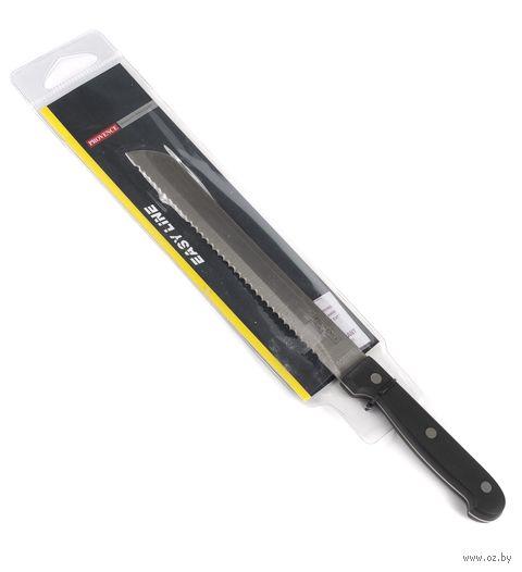 Нож кухонный для хлеба, металлический с пластмассовой ручкой (32/20,5 см)