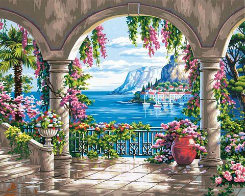 """Картина по номерам """"Цветочное патио"""" (410х510 мм; арт. DMS-73-91452)"""