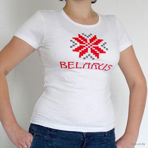 """Футболка женская Vitaem """"Belarus"""" (белая) (S)"""