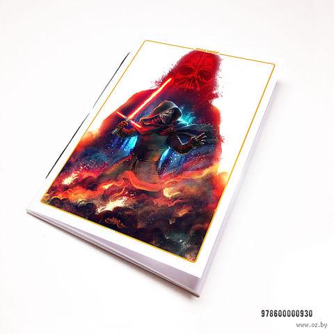 """Блокнот белый """"Звездные войны"""" А7 (930)"""
