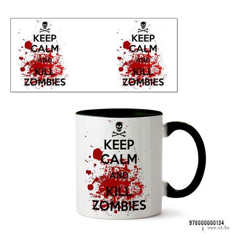 """Кружка """"Kill Zombies"""" (арт. 134, черная)"""