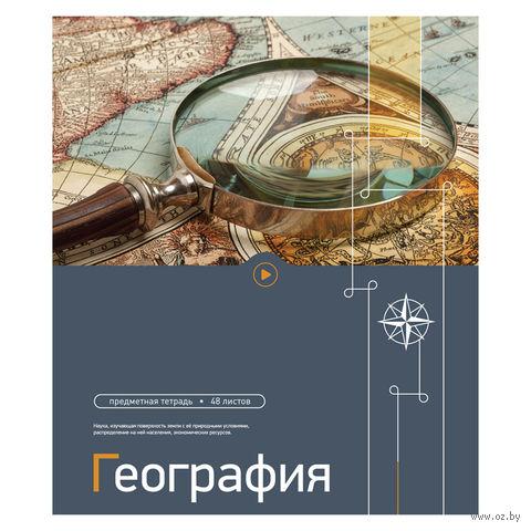 """Тетрадь полуобщая в клетку """"География"""" (48 листов)"""