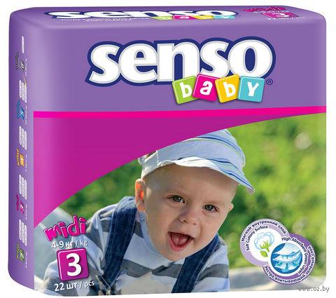 "Подгузники ""Senso baby. Midi"" (4-9 кг; 22 шт.) — фото, картинка"
