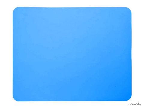 Лист для выпекания силиконовый (380x300 мм; голубой) — фото, картинка