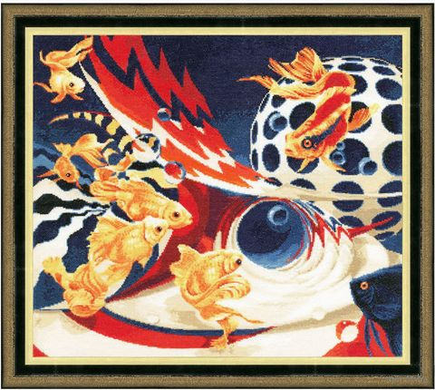 """Вышивка крестом """"Золотые рыбки"""""""