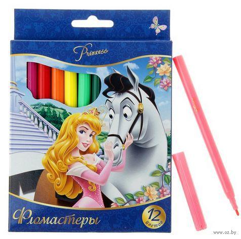 """Фломастеры """"Disney. Принцессы"""" (12 цветов) — фото, картинка"""