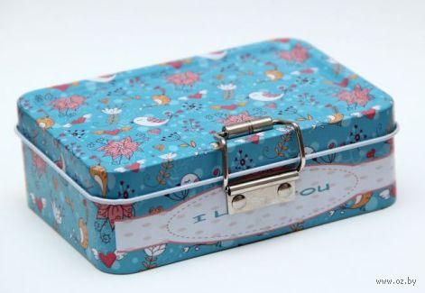 "Коробка для бытовых нужд ""Птички"" (12,5х9х4 см) — фото, картинка"