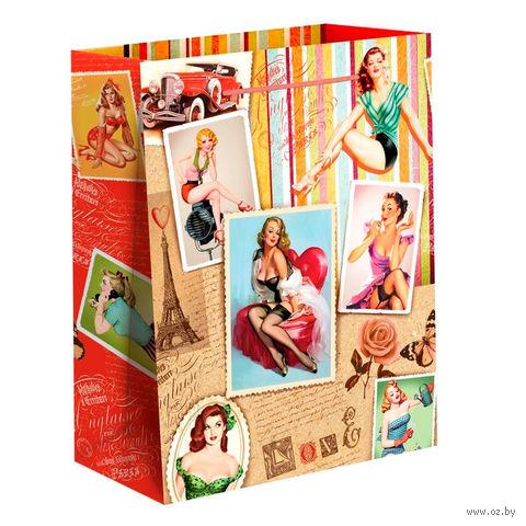 """Пакет бумажный подарочный """"Девушки"""" (18х23х8 см)"""