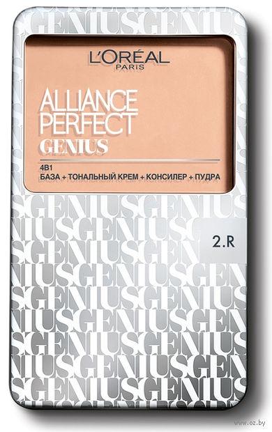 """Тональное средство для лица """"Alliance Perfect Genius 4в1"""" (тон: 2R, ванильно-розовый)"""