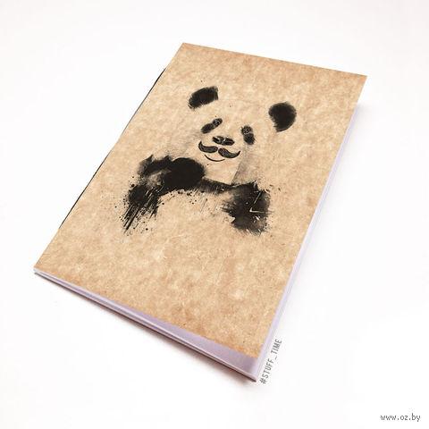 """Блокнот крафт """"Панда с усами"""" (А7; арт. 506) — фото, картинка"""