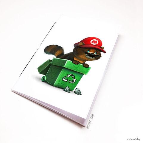 """Блокнот белый """"Марио"""" А5 (958)"""