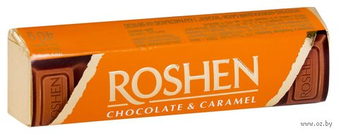 "Шоколад молочный ""Roshen. Карамель"" (43 г) — фото, картинка"