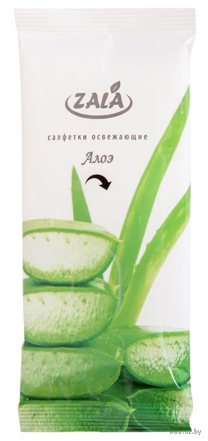 """Влажные салфетки """"Алоэ и зеленый чай"""" (10 шт.) — фото, картинка"""