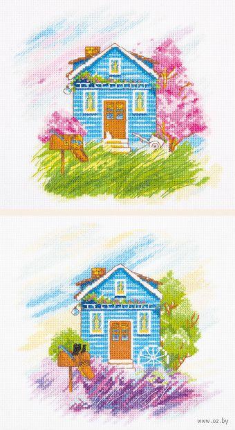 "Вышивка крестом ""Времена года: Весна, Лето"" (390х180 мм) — фото, картинка"