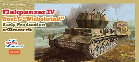 "Зенитная самоходная установка ""Flakpanzer IV Ausf.G Wirbelwind Early Production w/Zimmerit"" (масштаб: 1/35) — фото, картинка"