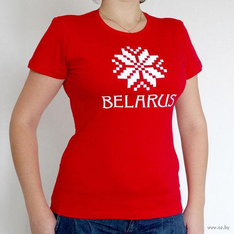 """Футболка женская S """"Belarus"""" (красная)"""