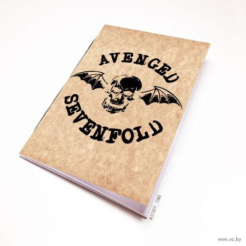 """Блокнот крафт """"Avenged Sevenfold"""" А6 (043)"""