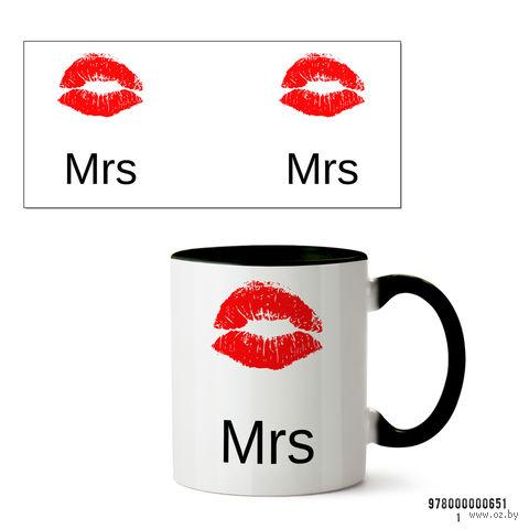 "Кружка ""Mrs"" (арт. 651, черная)"