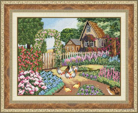 "Вышивка крестом ""В гостях у бабушки"" (290x380 мм) — фото, картинка"