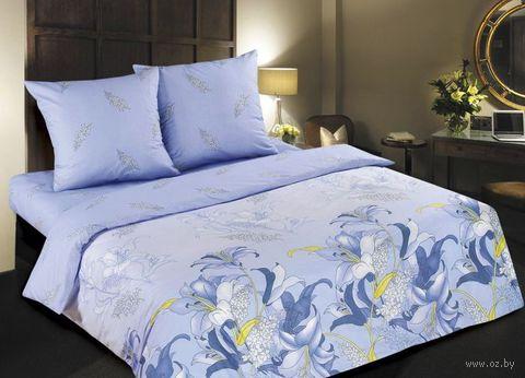 """Постельное белье """"Дикая орхидея. Синяя"""" (евро) — фото, картинка"""
