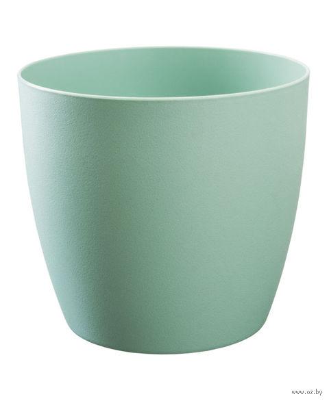 """Цветочный горшок """"Ага"""" (18 см; зеленый матовый) — фото, картинка"""