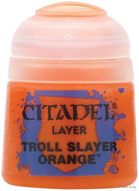 "Краска акриловая ""Citadel Layer"" (troll slayers orange; 12 мл) — фото, картинка"