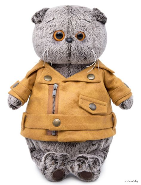 """Мягкая игрушка """"Басик в куртке-косухе"""" (30 см) — фото, картинка"""