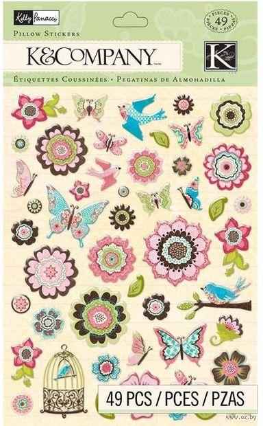 """Стикеры для скрапбукинга """"Цветение. Цветы и бабочки"""" — фото, картинка"""
