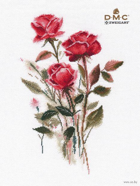 """Вышивка крестом """"Розы"""" (200х310 мм) — фото, картинка"""