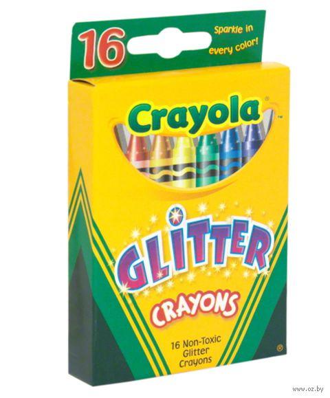 """Мелки восковые """"Crayola. С блестками"""" (16 цветов)"""