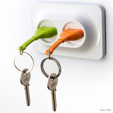 """Брелок и двойной держатель для ключа """"Unplug"""" (оранжевый, зеленый)"""