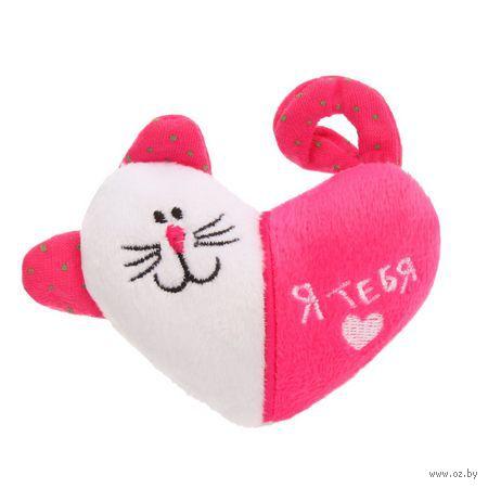 Магнит текстильный ''Я тебя люблю'' (9х6 см)