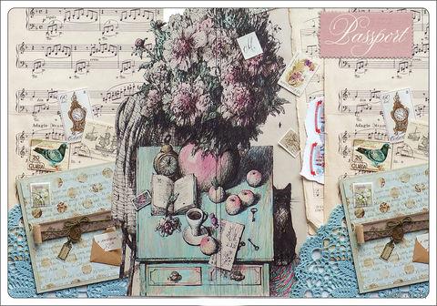 """Обложка для паспорта """"Весенняя мелодия"""" (арт. 44509) — фото, картинка"""