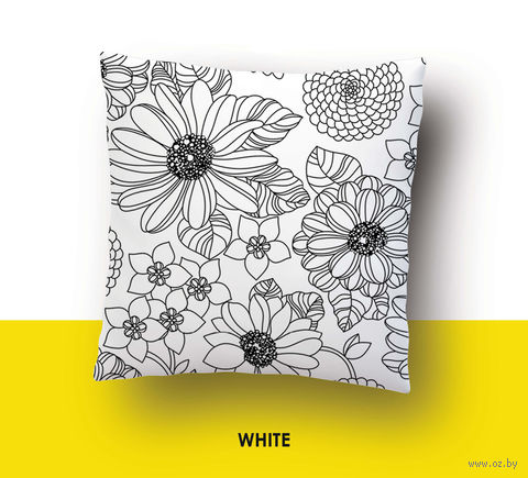 """Наволочка хлопковая """"White"""" (50x70 см) — фото, картинка"""