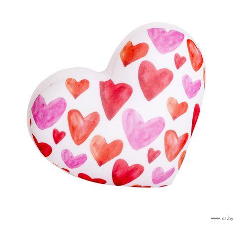 """Игрушка-антистресс """"Сердце 3D. Большие"""" (28 см; белый; арт. T2825C1701A104WH) — фото, картинка"""