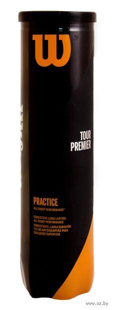 "Мячи для большого тенниса ""Tour Practice"" (4 шт.; арт. WRT114500) — фото, картинка"