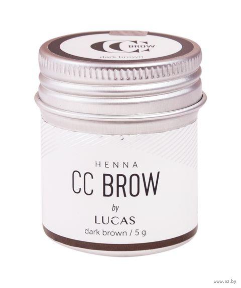 """Хна для бровей """"CC Brow. Баночка"""" тон: dark brown — фото, картинка"""