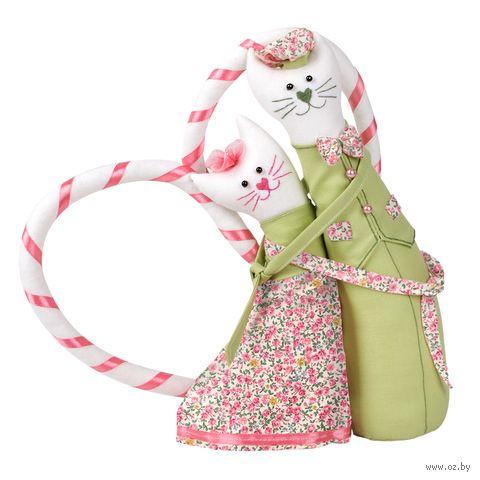 """Набор для шитья из ткани """"Коты-обнимашки. Романтики"""" — фото, картинка"""