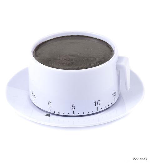 """Таймер кухонный пластмассовый """"Чашка с блюдцем"""" (9*3,8 см, арт. 4440018)"""