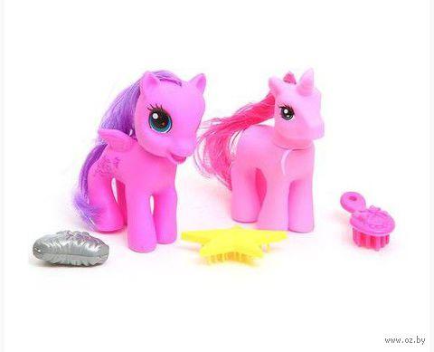 """Игровой набор """"Пони с аксессуарами"""" (2 лошадки; арт. Д61619)"""