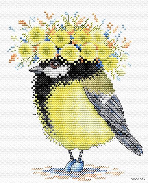 "Вышивка крестом ""Солнечная пташка"" (180х150 мм) — фото, картинка"
