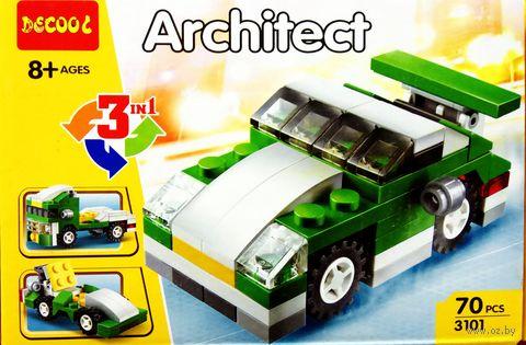 """Конструктор """"Машинка. 3 в 1"""" (70 деталей; арт. 3101) — фото, картинка"""