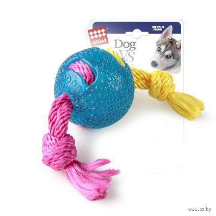 """Игрушка для собак """"Мячик на веревке"""" (22 см)"""