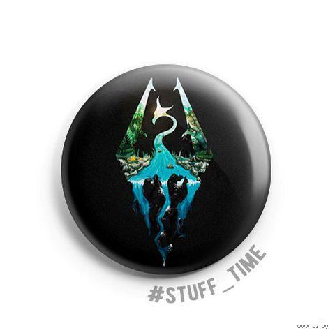 "Значок маленький ""Skyrim"" (арт. 668) — фото, картинка"