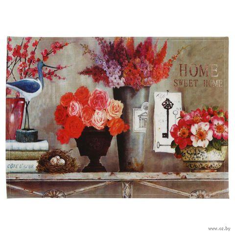 """Коврик для входной двери """"Нежность цветов"""" (60х45 см, арт. 37366) — фото, картинка"""
